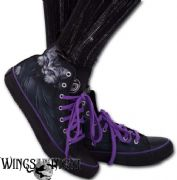 SPIRAL DIRECT Bright Eyes  Ladies High Top Sneakers | Gothic Shoes & Footwear